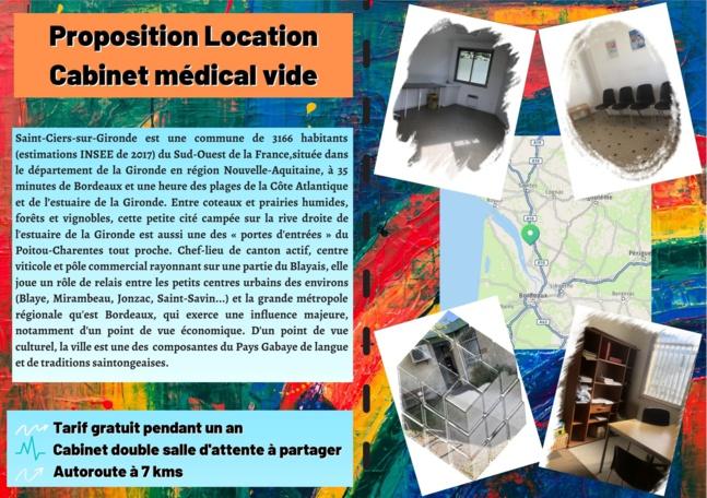 Le cabinet médical - emplacement libre et gratuit pour une meilleure installation