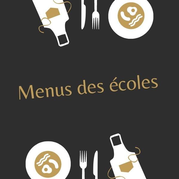 menu de la cantine du mois de novembre