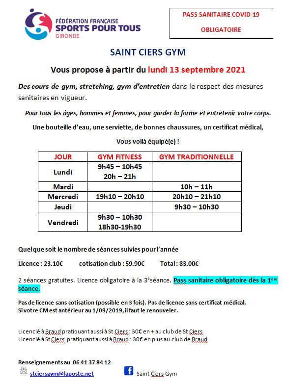 Saint Ciers Gym et Marche