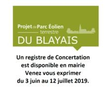 Projet de parc éolien du Blayais