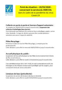 INFOS MAIRIE COVID 19 DU 20/03/2020