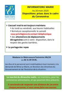 COVID 19 DERNIERES ACTU MAIRIE