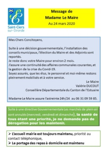 Article n°636 : INFORMATONS Mme Le Maire