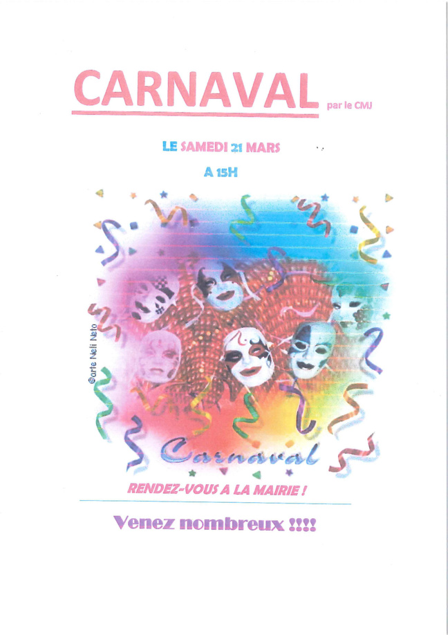 Affiche Carnaval du CMJ