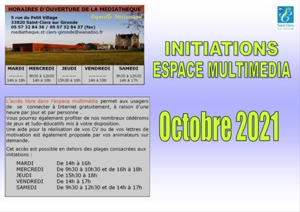 Initiations Espace Multimédia