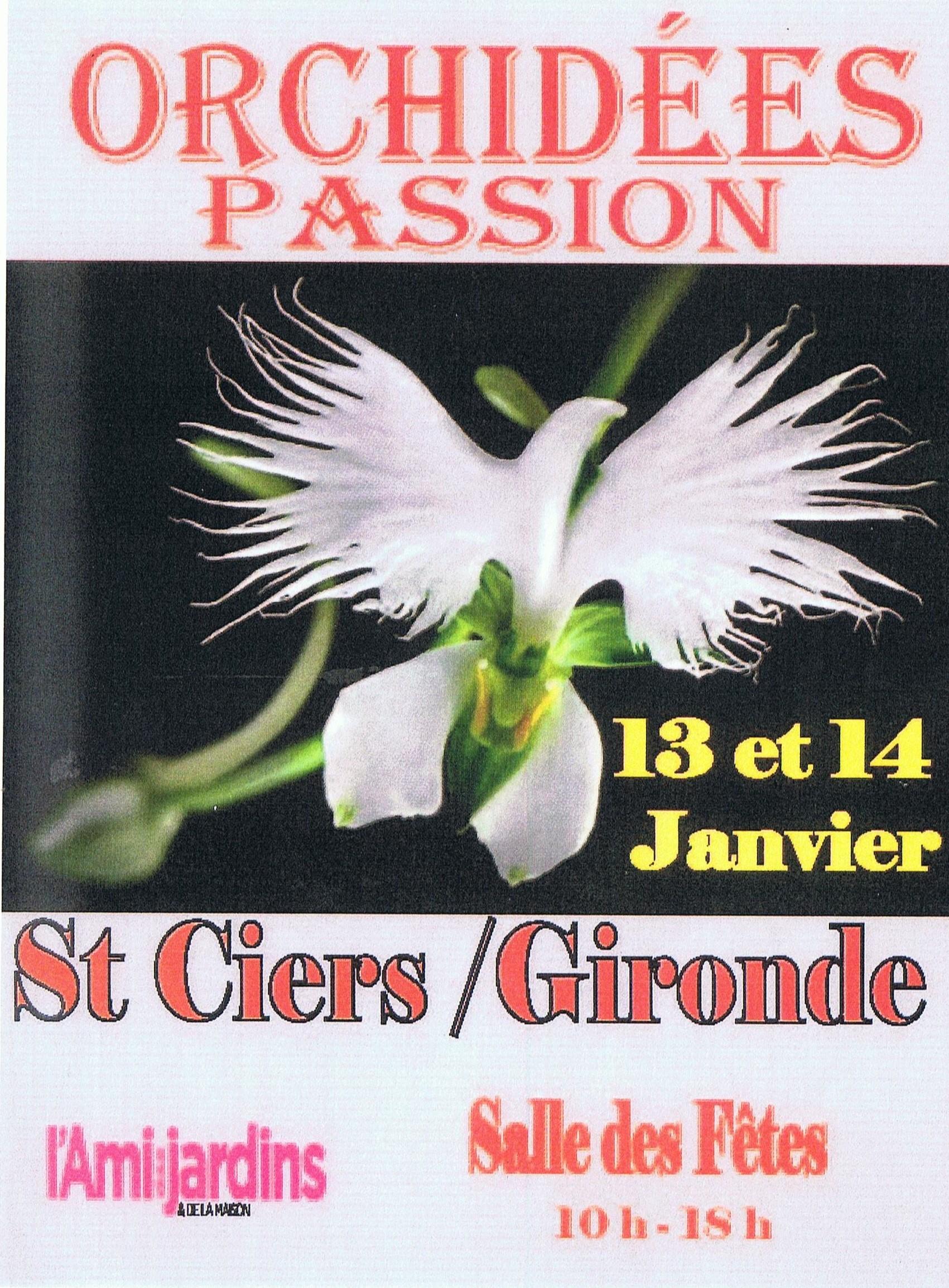 """""""Orchidées Passion"""" - 13 et 14 Janvier 2018 - Salle de Spectacles"""