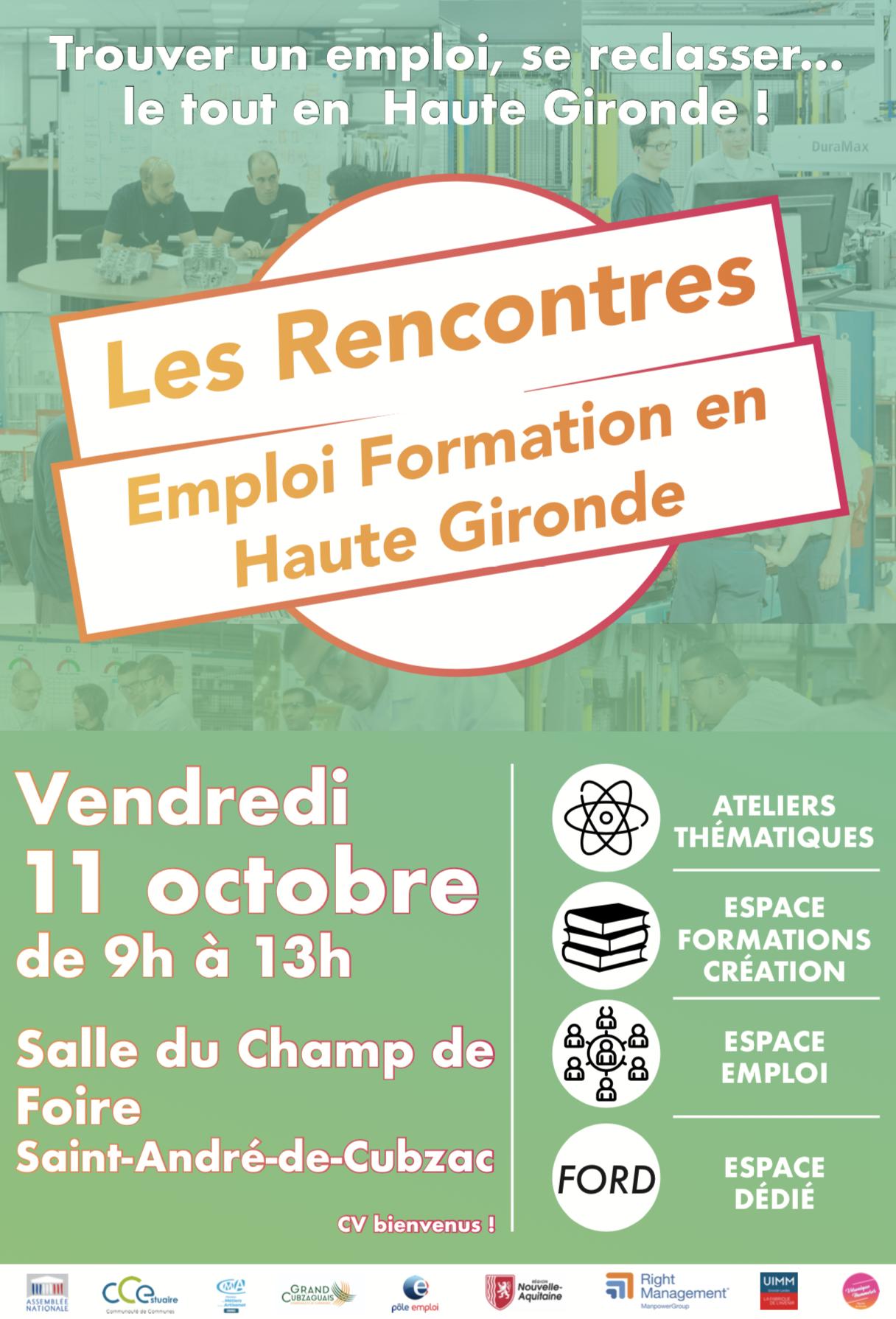 Les Rencontres Emploi Formation en Haute Gironde