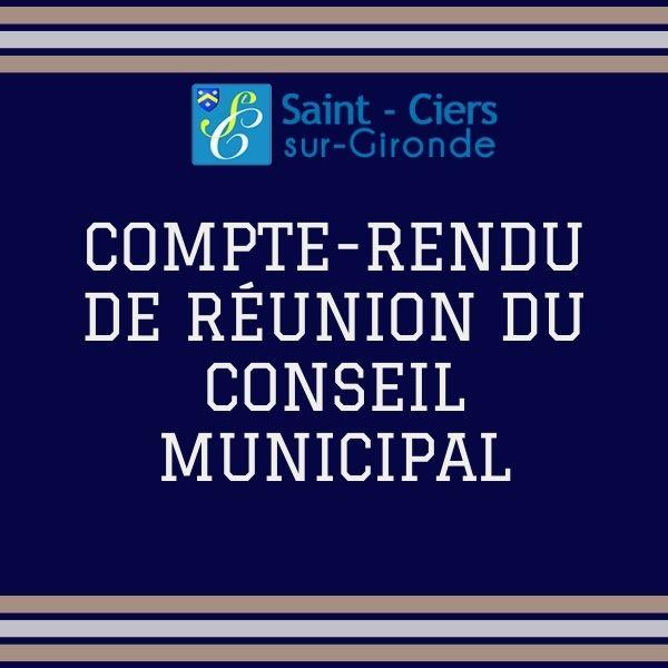 Compte rendu du conseil municipal du 14 octobre 2021