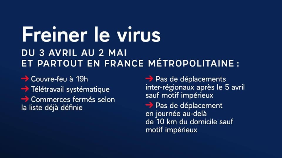 Informations Covid : Confinement