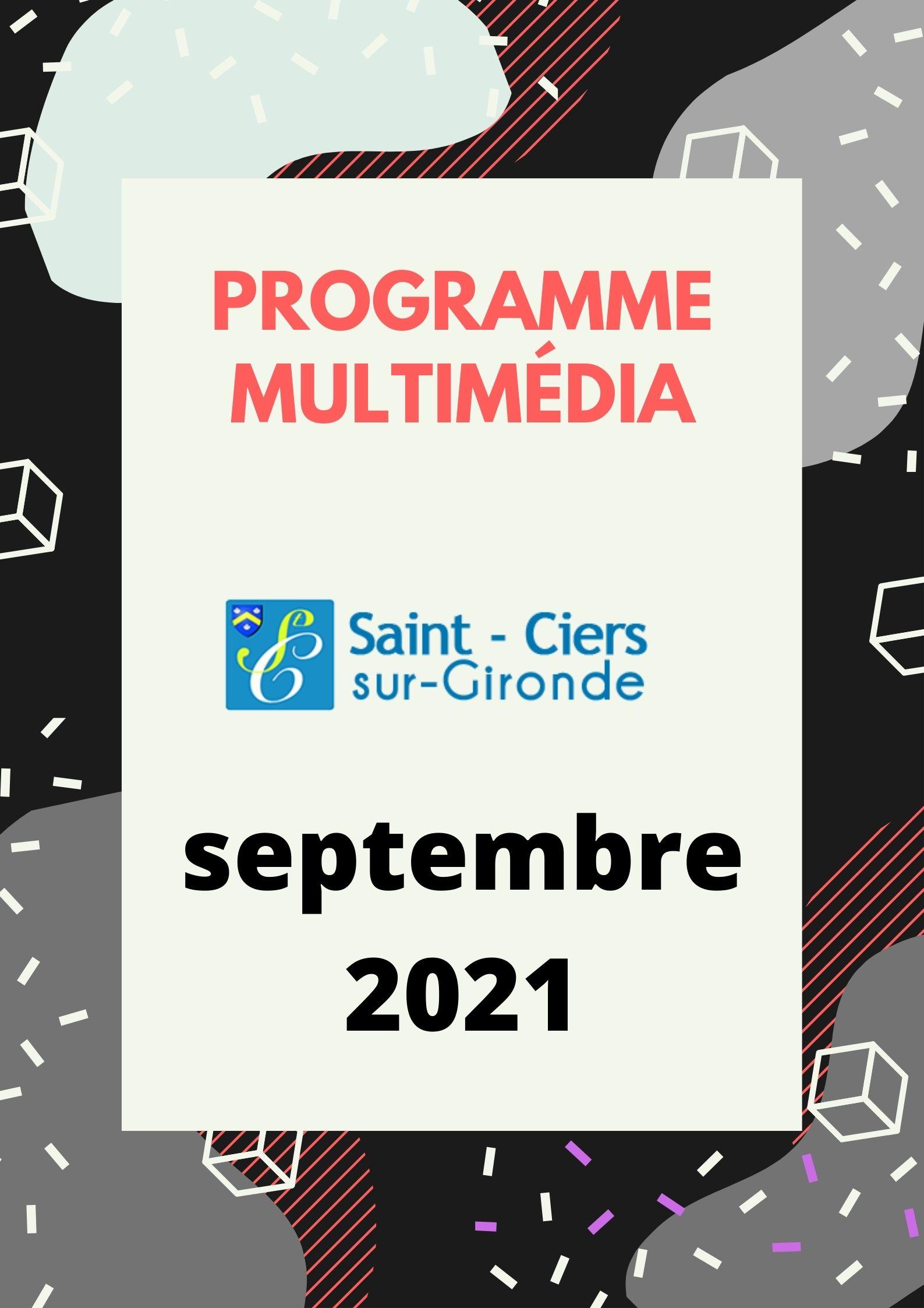 Programme Espace Multimédia Septembre 2021