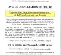 Consultation publique du nouveau Plan Particulier d'Intervention du CNPE du Blayais