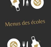 menu de la cantine du 8 Janvier au 2 Février 2018