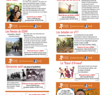 Programme de l'été de l'Espace de Vie Social le GDAR
